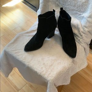 Marc Fisher Black Suede Booties